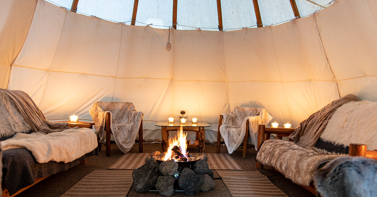 A Candlelit Tipi Is Inviting On A Cold Winter Night In Jackson Hole Wyoming